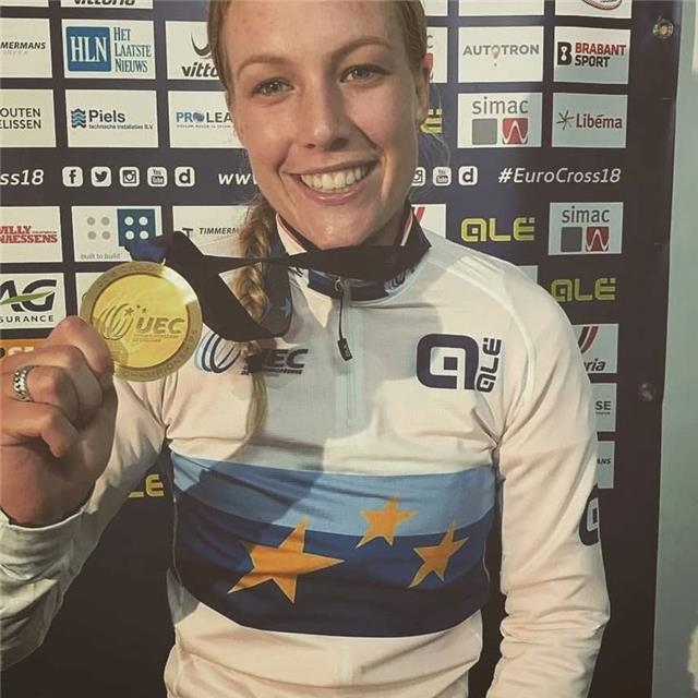 Annemarie Took Gold at the European championships Cyclocross Elite Women in Rosmalen